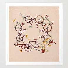 Circle Bike Art Print