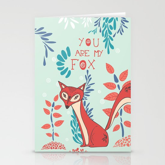 You are my Fox Stationery Card