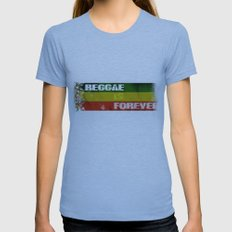 Reggae Is Forever II Womens Fitted Tee Athletic Blue SMALL