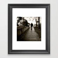 Man On Path I Saw One Af… Framed Art Print