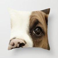 Boxer Nose Throw Pillow
