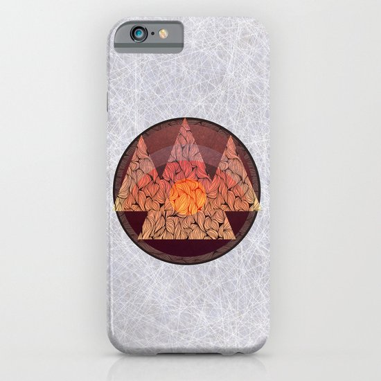 Sunset in the mountains iPhone & iPod Case