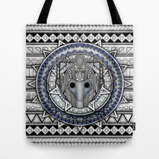 Aztec Cyberman Tardis Doctor who pencils sketch Tote Bag