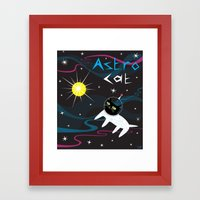 Astro Cat Framed Art Print