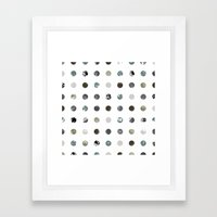 Graphic_Dots Framed Art Print