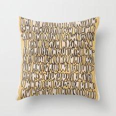 Teeth Throw Pillow