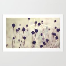 Charcoal stems Art Print