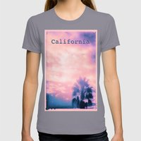 California Pink Womens Fitted Tee Slate SMALL