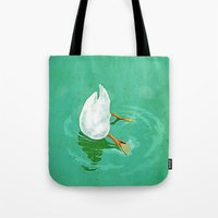 Duck Diving Tote Bag