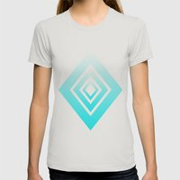 Trilesta Gamma Womens Fitted Tee Silver SMALL