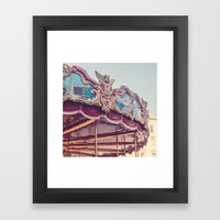 On the Piazza Framed Art Print
