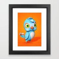Toby Blue Bird Framed Art Print
