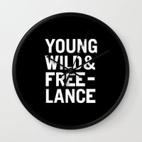 YOUNG WILD & FREELANCE Wall Clock