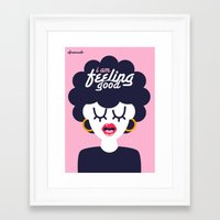 Feeling Good Framed Art Print