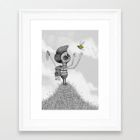 'The Bug Collector' (Colour Option) Framed Art Print