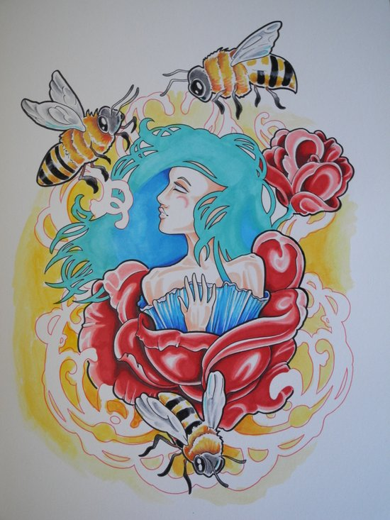 Life is the Flower for Which Love is the Honey Art Print