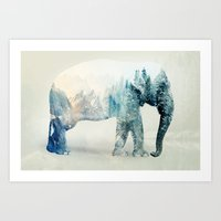 Vanishing Elephant  Art Print