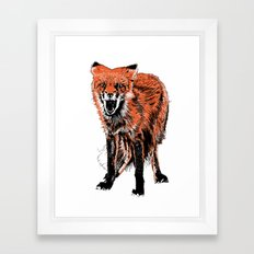 Angry Fox (color) Framed Art Print