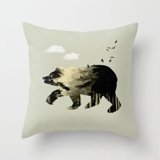 Bear Day Out Throw Pillow