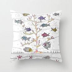 Coral of Life (Underwater)  Throw Pillow