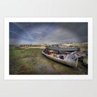 Barnstaple Boats  Art Print