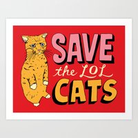 Save The LOL Cats Art Print