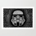 Trooper Star Circle Wars Art Print