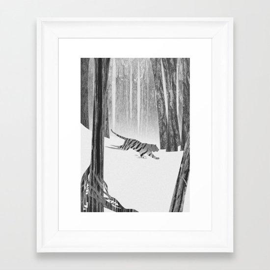 Martwood Tiger Framed Art Print