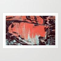 Low Paint Relief Art Print