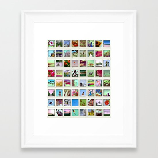 collection of moments Framed Art Print