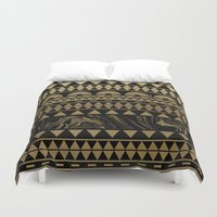 DIAMONDS AND GOLD Duvet Cover