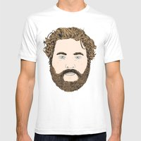 Zach Galifianakis Mens Fitted Tee White SMALL