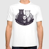 Modern Bear Family Mens Fitted Tee White SMALL