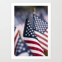 Flags in Repeat Art Print