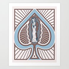 Our Lady of Spades Art Print