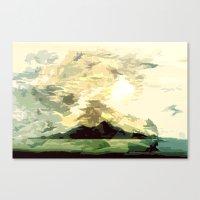 SUNSET AND HORIZON ABSTR… Canvas Print