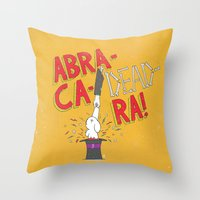 Abra-Ca-Dead-Ra! Throw Pillow
