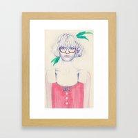 More Green Framed Art Print