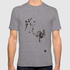 Pensive Primate. Mens Fitted Tee Athletic Grey SMALL