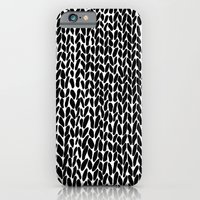 Hand Knitted Black S iPhone 6 Slim Case