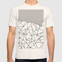 Ab Lines 45  Mens Fitted Tee Natural SMALL
