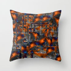 Red Oxides Throw Pillow