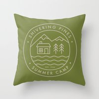 Shivering Pines Throw Pillow