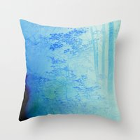 Fire Forest Throw Pillow