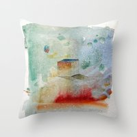 waxing crescent.three Throw Pillow