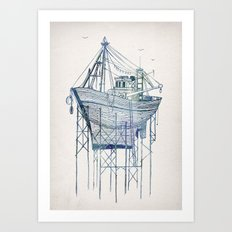 Dry Dock I Art Print