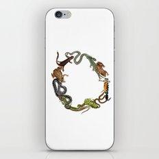 Reptile Wreath iPhone & iPod Skin