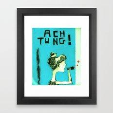 ACHTUNG! Framed Art Print