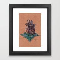 Framed Art Print featuring The Moving Castle by KeithKarloff