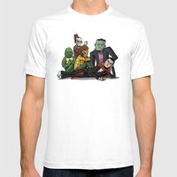 The Universal Monster Cl… Mens Fitted Tee White SMALL